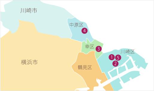 事業所エリアマップ