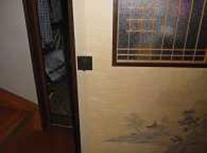 寝室扉取手 レバーハンドル取付前