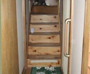 階段 滑り止め取付後