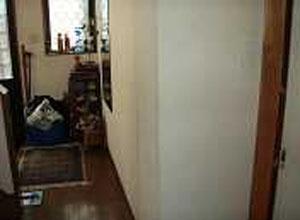 廊下 移動用ヨコ型手すり取付前