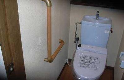 トイレ L型手すり取付後