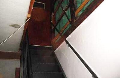 屋外階段 手摺り取付後